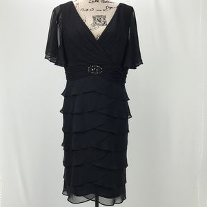 Dressbarn chiffon black evening wear dress